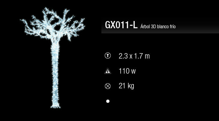 blachere arbol 3d blanco frio