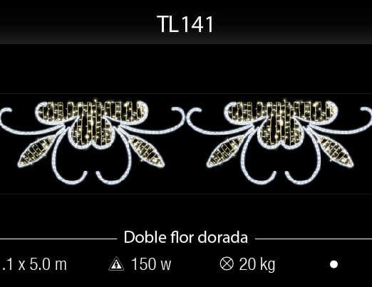 doble flor dorada