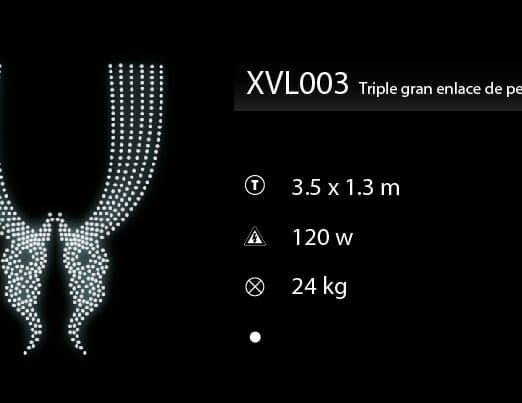 triple gran enlace de perlas