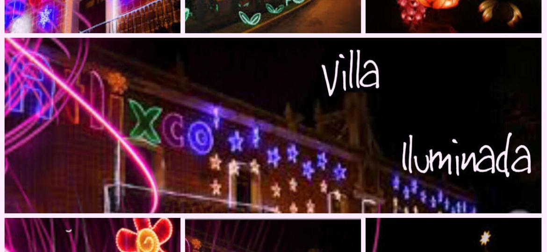 villa iluminada...